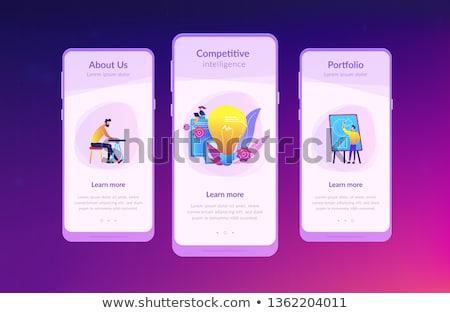 competitivo · inteligência · aplicativo · interface · modelo · pessoas · de · negócios - foto stock © rastudio