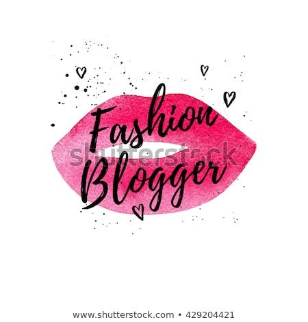 Schoonheid blogger mode bloggen internet cosmetica Stockfoto © RAStudio