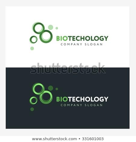 Abstract vloeistof moleculair structuur logo sjabloon Stockfoto © kyryloff