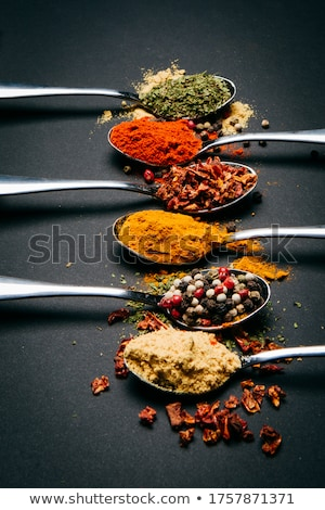 spices in spoons stock photo © grafvision