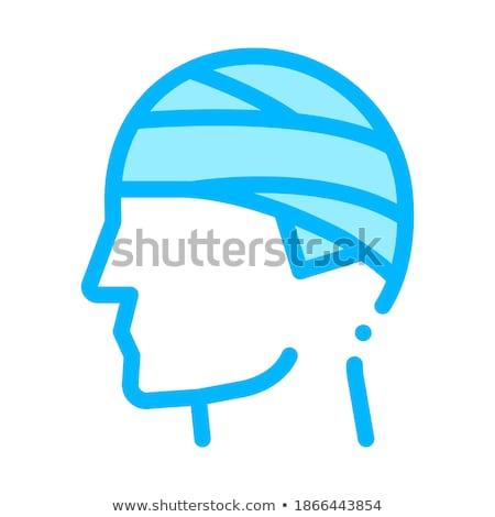Hoofd man silhouet hoofdpijn vector icon Stockfoto © pikepicture