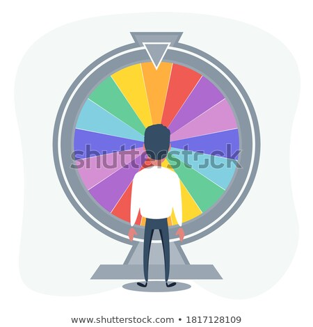 Fortune Wheel People Celebrating Victory Vector Stock photo © robuart