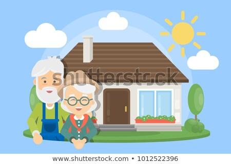 幸せな家族 · 家 · ホーム · アイコン · シンボル · にログイン - ストックフォト © robuart