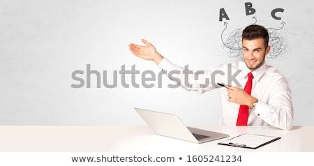 ハンサム 小さな 教師 教育 ハンサムな男 作業 ストックフォト © ra2studio