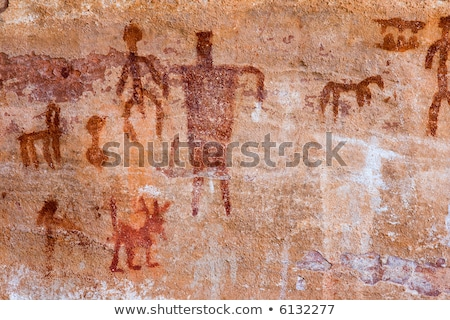 Alten Arizona indian Kunst rock rot Stock foto © diomedes66