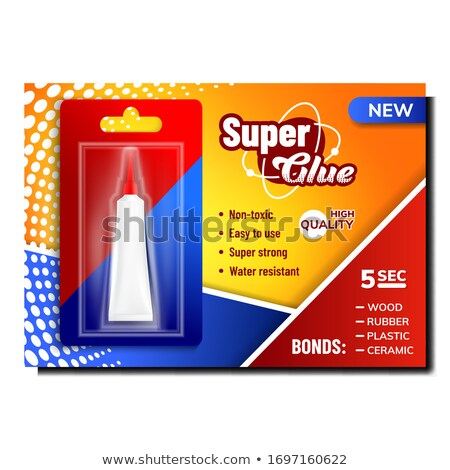 Super Glue In Package Advertising Poster Vector Stock photo © pikepicture