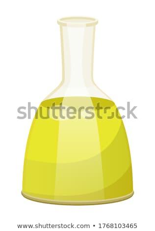 Plantaardige olie haarverzorging vloeibare glas fles Stockfoto © robuart