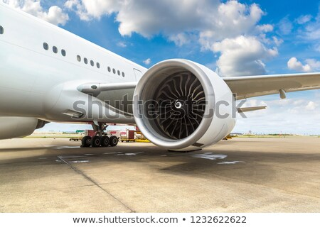 Airplane and engine at Airport in Maldives Stock photo © bloodua