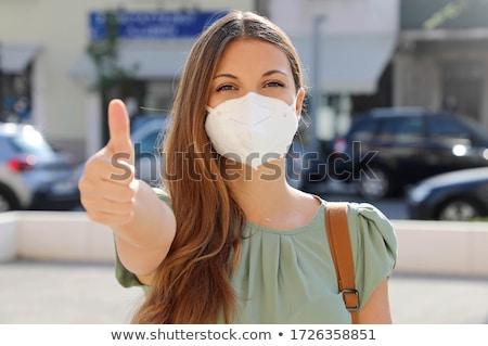 Otimista mulher jovem casual veja isolado branco Foto stock © iko