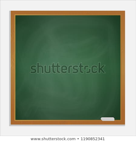 Vector illustration of a chalkboard with wooden frame. Stock photo © Bytedust