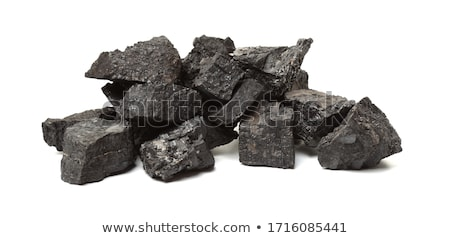 stack pile of charcoal coal on an industrial background          Stock photo © Melvin07