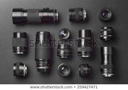 Photographie lentille noir métal photo horizons Photo stock © johnnychaos