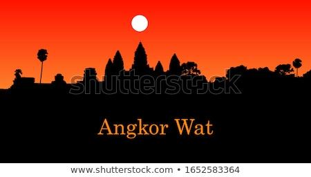 Hindoeïsme tempel dak oude toren Sri Lanka Stockfoto © bbbar
