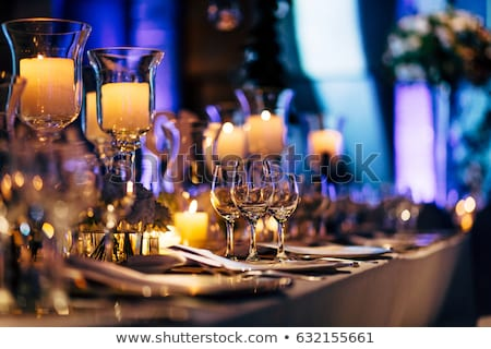 Luxury table setting with silver Stock photo © Hofmeester