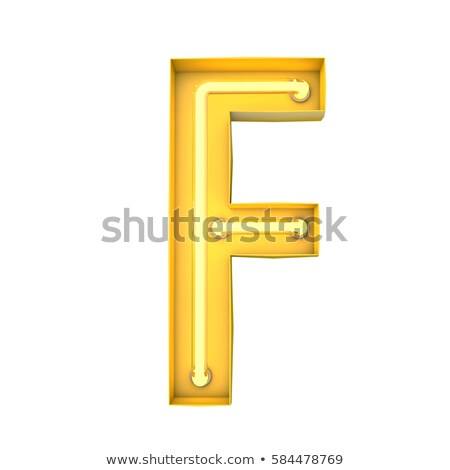 Neon Sign Letter F Stock photo © creisinger