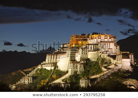 Gece saray tibet ünlü Bina Stok fotoğraf © bbbar