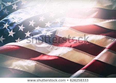 Bandeira americana vento fundo bandeira estrela Foto stock © ozaiachin