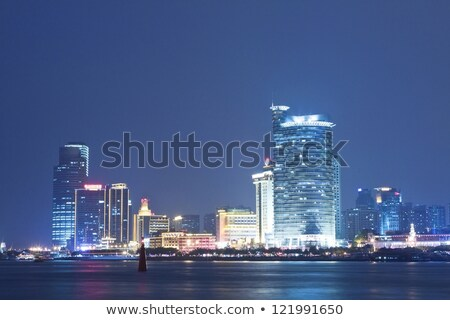 Xiaman business district downtown at night Stock photo © kawing921