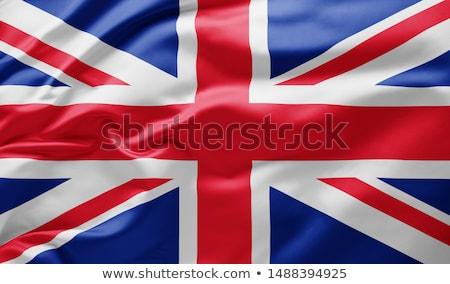 Banderą wielka brytania wiatr Błękitne niebo niebo Zdjęcia stock © unweit