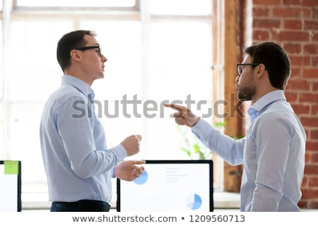 aggressive businessman pointing stock photo © photography33