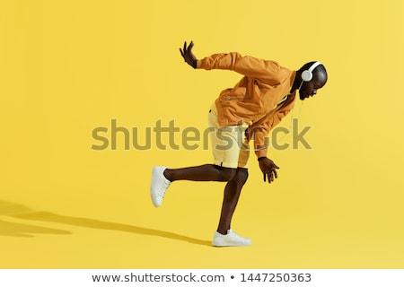 moço · fones · de · ouvido · dança · homem · dançar · jovem - foto stock © ambro