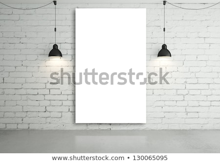 Two Lamp Poster Stock photo © idesign