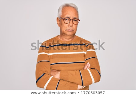 retrato · satisfeito · homem · óculos · olhando - foto stock © feedough