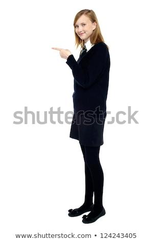 学生 立って ポインティング フォワード コピースペース 学校 ストックフォト © stockyimages