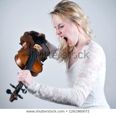 pretty violonist stock photo © oneinamillion