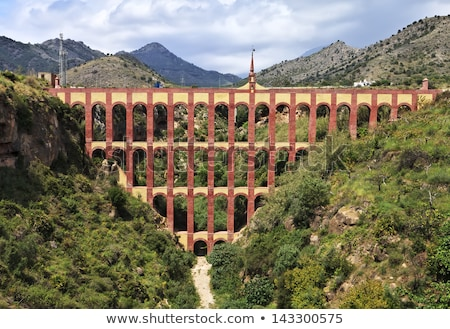 Aqueduct named El Puente del Aguila in Nerja, Andalusia, Spain Stock photo © Nobilior