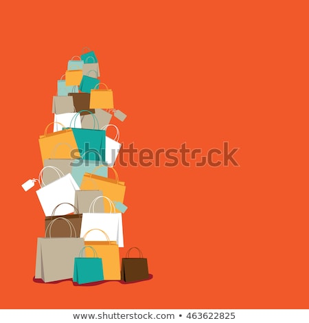 Discount Shopping Bag Frame Background Stock photo © lenm