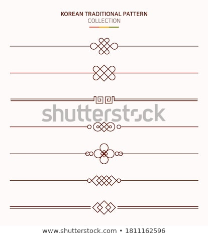 Korean traditional patterns Stock photo © zzve