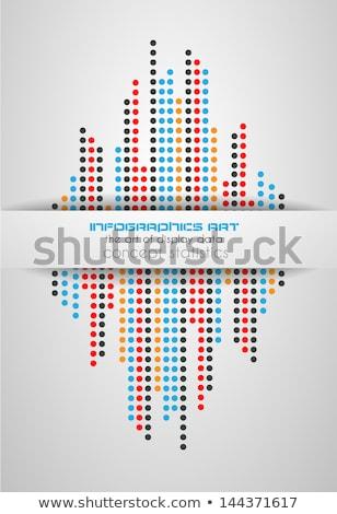 Infographie écran données élégant façon propre Photo stock © DavidArts