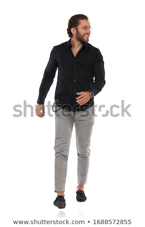 молодые деловой человек ходьбе камеры фотография Сток-фото © feedough
