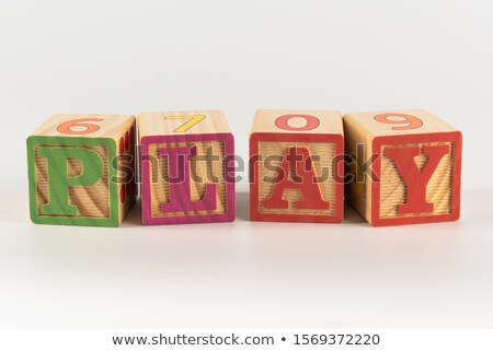 Alfabeto blocos de construção ortografia palavra aprender escolas Foto stock © leungchopan
