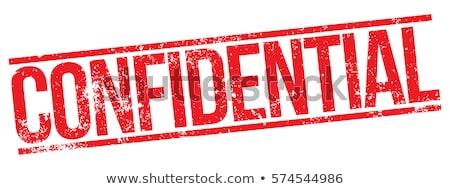 Confidencial vector diseno sello tinta Foto stock © burakowski