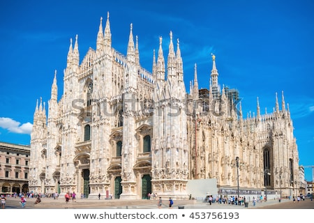 kathedraal · milaan · Italië · zonsopgang · stad · architectuur - stockfoto © sognolucido