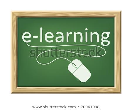 Une souris d'ordinateur mot éducation main étudiant web Photo stock © designers
