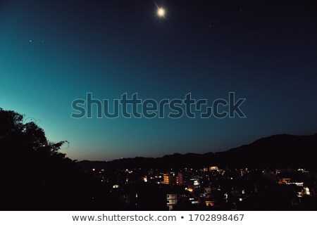 światło księżyca miasta port światła Wellington refleksji Zdjęcia stock © rghenry