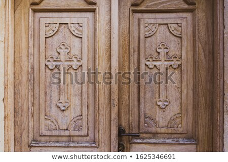 Old Wooden Orthodox Church Door Stock photo © ankarb