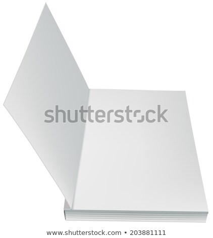 Open book front page paperback limp binding Stock photo © orensila