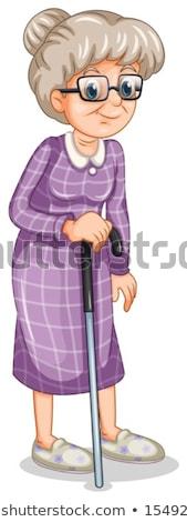 Karikatür kadın mor terlik örnek Stok fotoğraf © Zebra-Finch