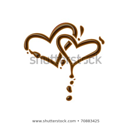 Chocolate corazón rebanada tiramisu cena Foto stock © raphotos