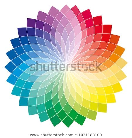 mandala flower rainbow colors in circles stock photo © marinini