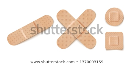 первая помощь штукатурка здравоохранения квадратный изолированный Сток-фото © dezign56
