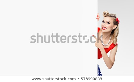 Retro Pin Up Space Girl Stock photo © lineartestpilot
