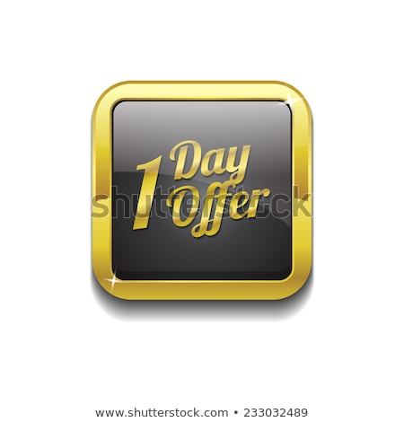 Weekend Offer Gold Vector Icon Button Stock photo © rizwanali3d