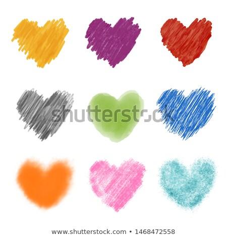 firka · szívek · különböző · forma · minta · szeretet - stock fotó © alevtina
