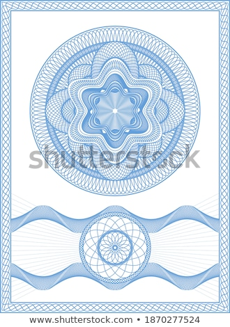 Guilloche Floral Elements Stock photo © WaD