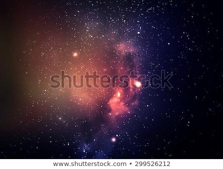 Csillagok csillagköd fantázia festmény született mély Stock fotó © 3mc